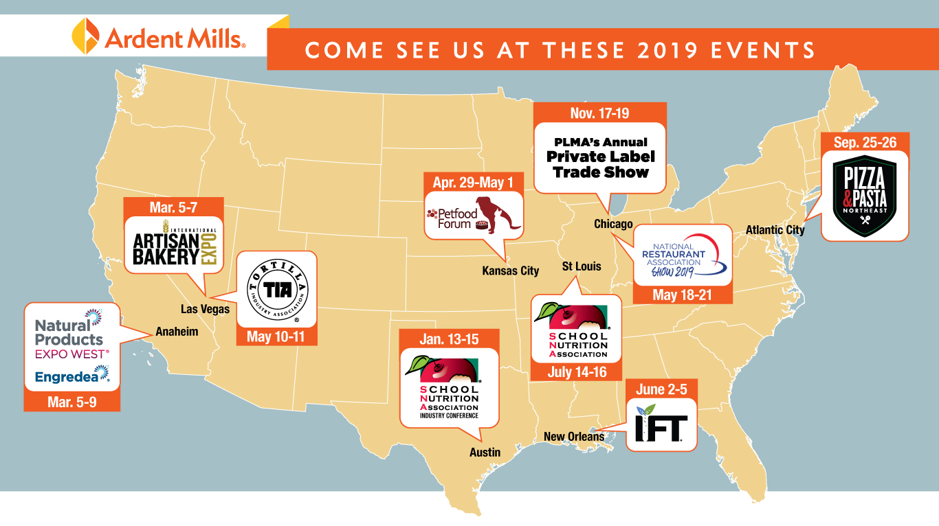 Mapping Out Our Trade Show Agenda for 2019 | Ardent Mills